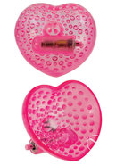 Vibrating Heart Shaped Breast Massagers Pink